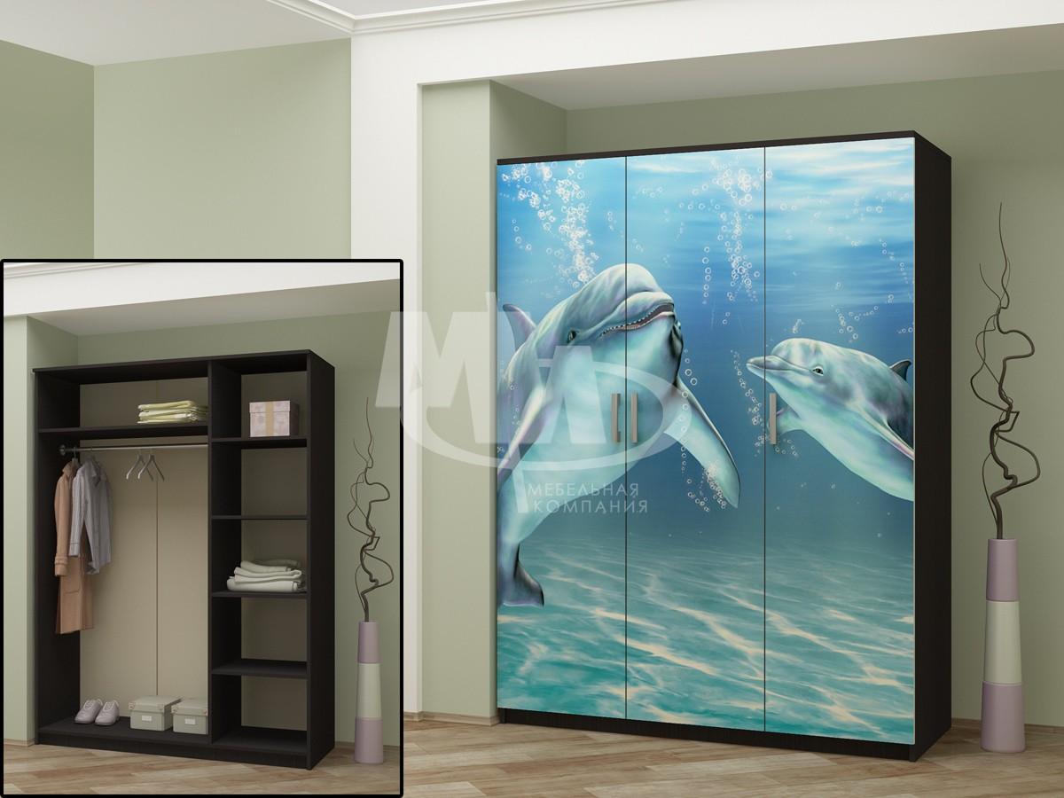 Шкаф 3-х створчатый с фотопечатью - интернет-магазин недорог.